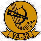STICKER USN VA 32 BOWMEN