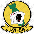 STICKER USN VA 54 COPPERHEADS