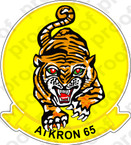STICKER USN VA 65 TIGERS
