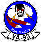 STICKER USN VA 93 BLUE BLAZERS