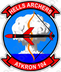 STICKER USN VA 104 HELLS ARCHERS