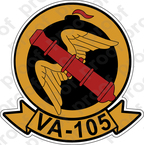 STICKER USN VA 105 CANNONEERS