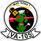 STICKER USN VA 105 MAD DOGS