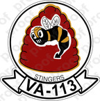 STICKER USN VA 113 STINGERS