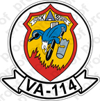 STICKER USN VA 114 ATKRON