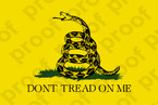 Patriotic Dont Tread on Me Flag Sticker