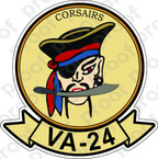 STICKER USN VA 24 CORSAIRS