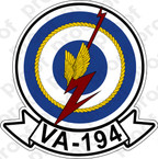 STICKER USN VA 194 ATKRON 1948