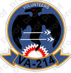 STICKER USN VA 214 VOLUNTEERS
