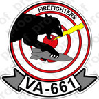 STICKER USN VA 661 FIRE FIGHTERS