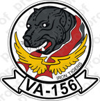 STICKER USN VA 156 IRON TIGERS