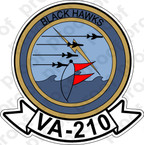 STICKER USN VA 210 BLACKHAWKS
