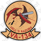 STICKER USN VA 134 HELLS RAZORS