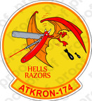 STICKER USN VA 174 HELLS RAZORS