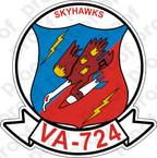 STICKER USNR VA 724 SKYHAWKS