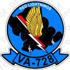 STICKER USNR VA 728 RED LIGHTNINGS