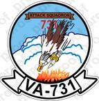 STICKER USNR VA 731 HAWKS
