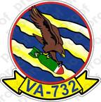 STICKER USNR VA 732 EAGLES