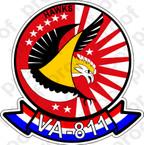 STICKER USNR VA 811 HAWKS