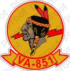 STICKER USNR VA 851 ATTACK SQUADRON
