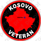 STICKER MILITARY KOSOVO VET