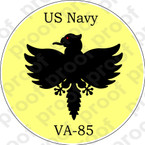 STICKER USN VA 85 BLACK FALCONS 1958