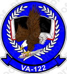 STICKER USN VA 122 FLYING EAGLES