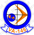 STICKER USN VA 146 BLUE DIAMONDS