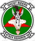 STICKER USN VA 164 GHOST RIDERS