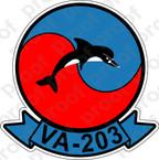 STICKER USNR VA 203 Blue Dolphins