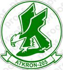 STICKER USNR VA 205 GREEN FALCONS