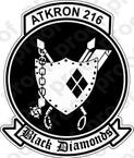 STICKER USNR VA 216 BLACK DIAMONDS