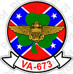 STICKER USNR VA 673 REBELS