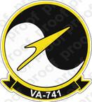STICKER USNR VA 741 Skyhawks