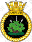 British Navy HMS Ambush Sticker