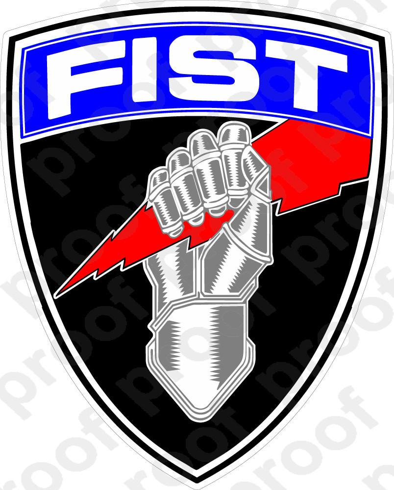 Sticker Fist Fire Support Team M C Graphic Decals
