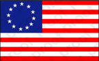 STICKER PATRIOTIC BETSY ROSS FLAG
