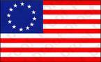 STICKER PATRIOTIC BETSY ROSS FLAG