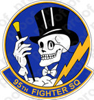 STICKER USAF  95TH FIGHTER SQUADRON B