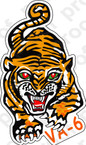 STICKER USN VA 6 TIGERS