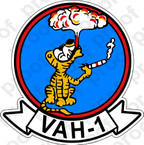 STICKER USN VAH 1 Smokin Tigers