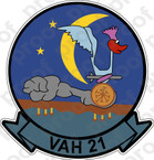STICKER USN VAH 21 ROAD RUNNERS