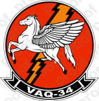 STICKER USN VAQ 34 ELECTRIC HORSEMEN