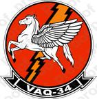 STICKER USN VAQ 34 ELECTRIC HORSEMEN