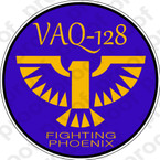 STICKER USN VAQ 128 FIGHTING PHOENIX