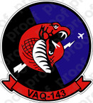 STICKER USN VAQ 143 COBRAS