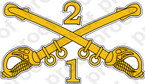 STICKER U S ARMY BADGE 1st 2nd Cavalry Sabers