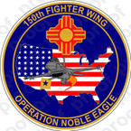 STICKER USAF 150TH FIGHTER WING NOBLE EAGLE