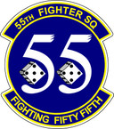 STICKER  USAF 55TH FIGHTER SQUADRON