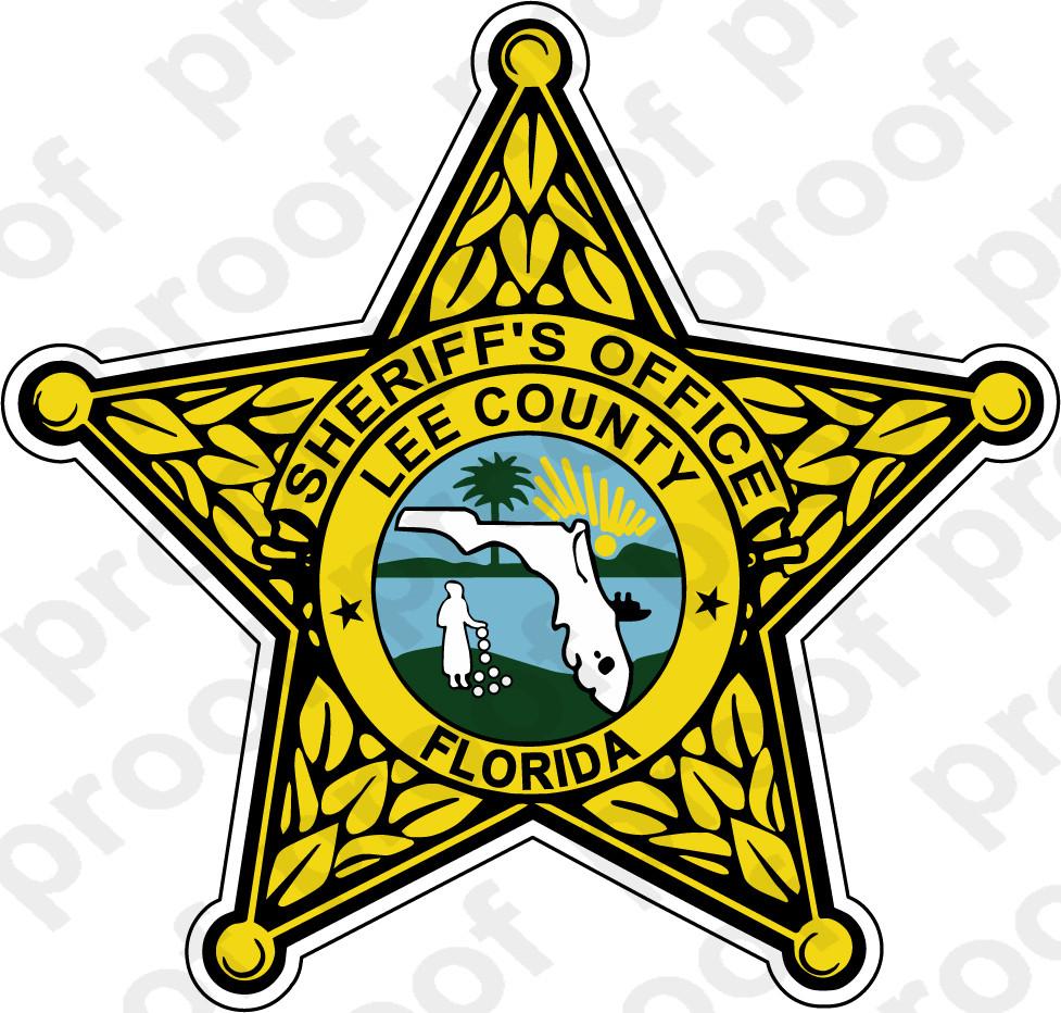 STICKER SHERIFF LEE COUNTY